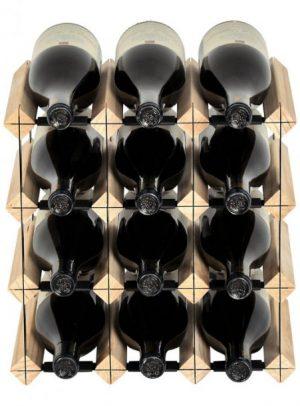 Mensolas 12 flasker fyrretræ
