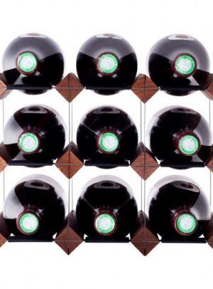 Mensola 9 flasker mørkbejdset