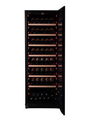 Pevino NG Display 200 flasker - 1 zone - Sort glasfront_1