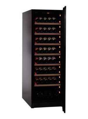 Pevino NG Display 200 flasker - 1 zone - Sort glasfront_2